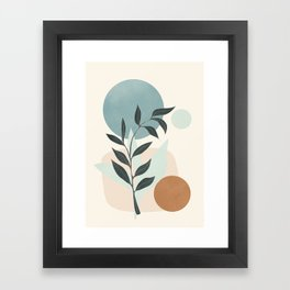 Azzurro Shapes No.53 Framed Art Print