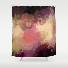 Modern Contemporary Ultra Violet Glow Abstract Shower Curtain