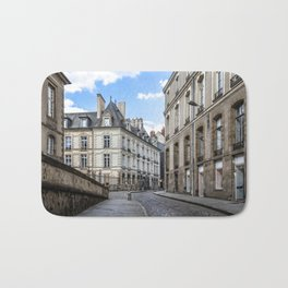 Old town street of Rennes Bath Mat