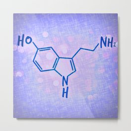 Serotonin Metal Print