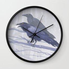 Huginn and Muninn Wall Clock