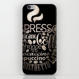 Espresso Typography iPhone Skin