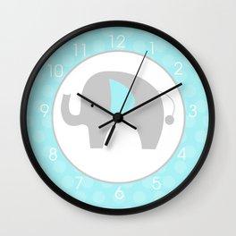 Mod Elephant Teal Wall Clock