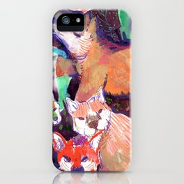maned wolf in turquoise booties iPhone Case