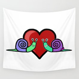 Snail Couple Wall Tapestry