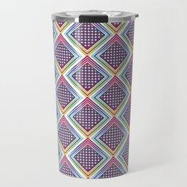 Gradient Rhombus Travel Mug
