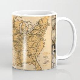 Greyhound Bus Line Map 1935 Coffee Mug