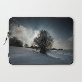 Snowy Hillside Laptop Sleeve