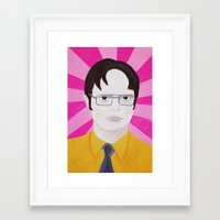 dwight Framed Art Prints featuring Dwight by kate gabrielle
