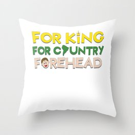 Biggest and Shiniest Forehead Tshirt design For all Throw Pillow