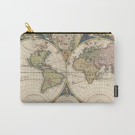 Vintage Map of The World (1690) Carry-All Pouch