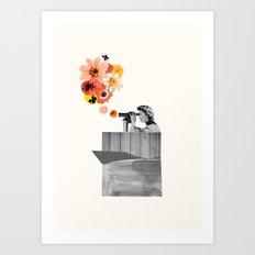 in bloom (black & white) Art Print