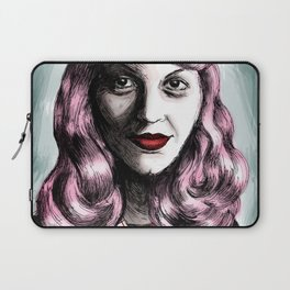 Sylvia Plath_Pink Blue Laptop Sleeve
