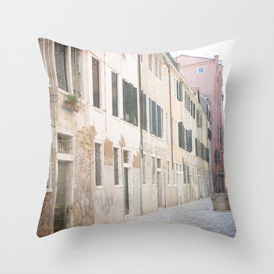 The Pastel Ladies - Venice, Italy Throw Pillow