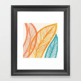 Tropical Flora - Retro Palette Framed Art Print