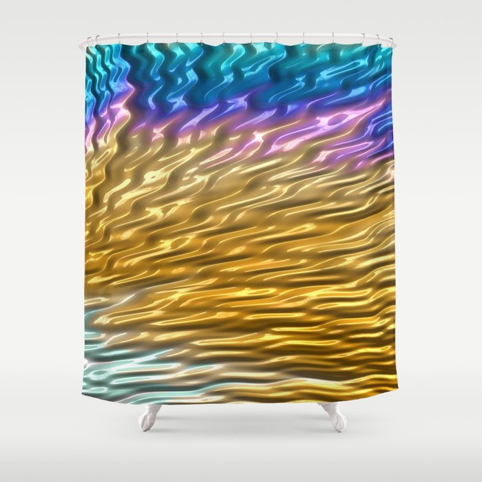 Squalling Harpoon Fractal Design 4 Shower Curtain