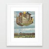 laputa Framed Art Prints featuring Laputa by Nicholas Lockyer