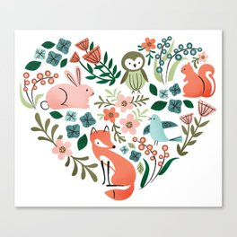 Animal Heart Canvas Print