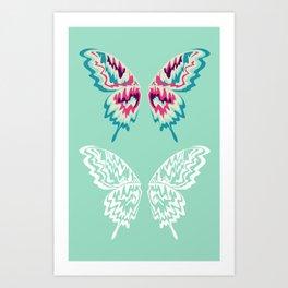 Painted Wings  Art Print