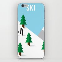 ski iPhone & iPod Skins featuring Ski by Andrew Spencer