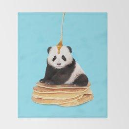 PANCAKE PANDA Throw Blanket