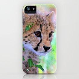 Aqua_Cheetah_20180102_by_JAMColorsSpecial iPhone Case