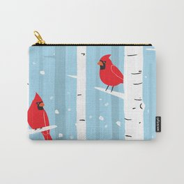 Snow Day Cardinals Carry-All Pouch