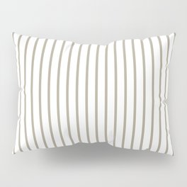 Pussy Willow Pinstripe on White Pillow Sham