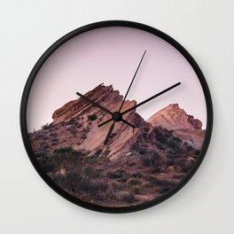 Desert Landscape at Magic Hour Wall Clock