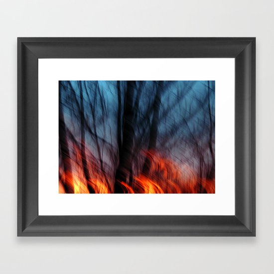 Out of the Blue into the Fire #II Framed Art Print