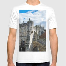 Bootham Bar and York Minster Mens Fitted Tee MEDIUM White