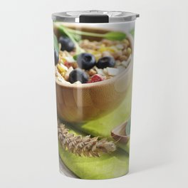 Healthy through the day with cereal Travel Mug