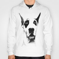 great dane Hoodies featuring Great Dane  by Mr Shins