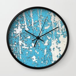 Old chipping paint as abstract artwork Wall Clock