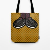 air jordan Tote Bags featuring AIR JORDAN 3 by originalitypieces