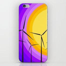 Windmills - Sunset iPhone Skin