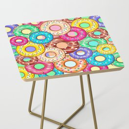 Donuts Punchy Pastel flavours Pattern Side Table