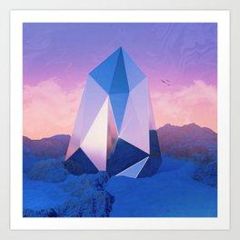 Blue Quartz Art Print