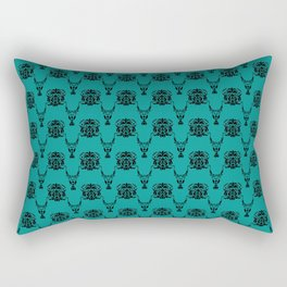 Lion Vs Gazelle Damask Print Rectangular Pillow