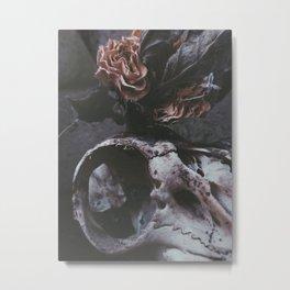 DEATH & ROSES Metal Print