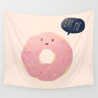nan lawson Wall Tapestries featuring Eat Me by Nan Lawson