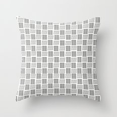 Dots & triangles Throw Pillow