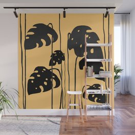 gold and black leaves Wall Mural