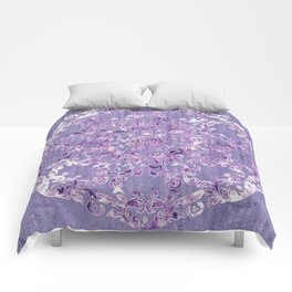 A Taste of Lilac Wine Comforters