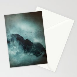 On the top of the world - Mountains Dust Stationery Cards