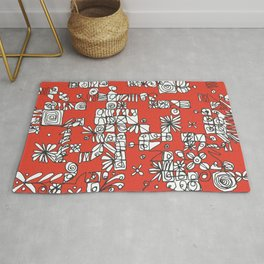 Be square. Be bright. Rug