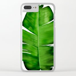 Banana Leaf Painting Clear iPhone Case