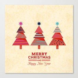 Three Christmas Trees Canvas Print