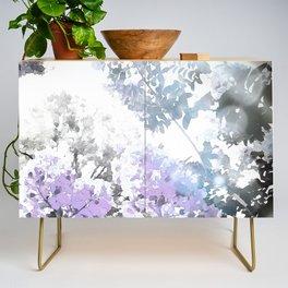 Watercolor Floral Lavender Teal Gray Credenza