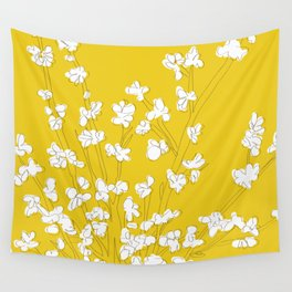 Bright Forsythia Wall Tapestry